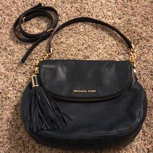 'Bedford Tassel -Convertible Leather Shoulder Bag